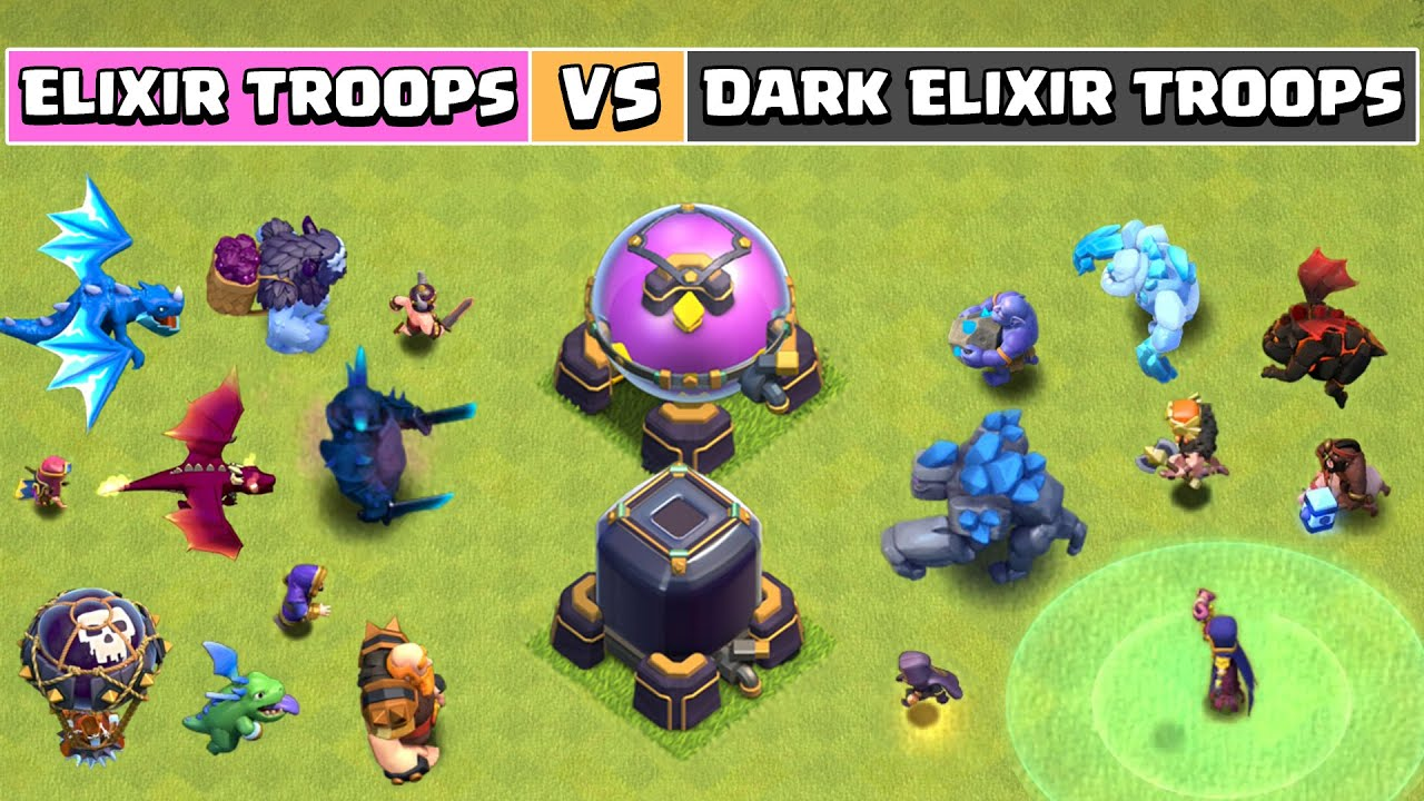 Elixir Troops Vs Dark Elixir Troops [PART-2] | Clash of Clans