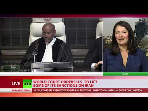 UN court orders US to lift Iran sanctions linked to humanitarian goods