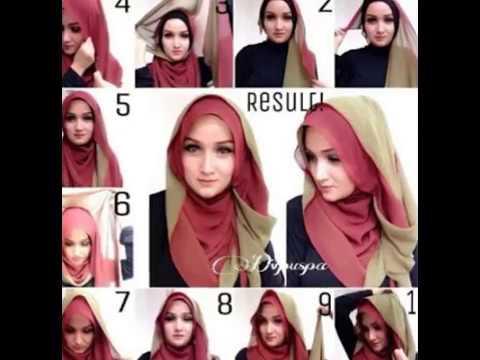 Tutorial Cara Memakai Hijab Segi Empat Simple Dan Modis Terbaru Youtube