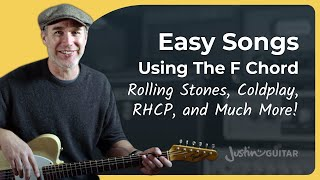 F Chord for Begiฑners - 5 Awesome Songs to Practice With!