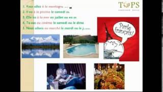 Видеоурок французского языка от Языкового центра TOPS