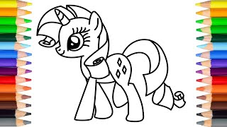 Learn how to draw Rarity of My Little Pony