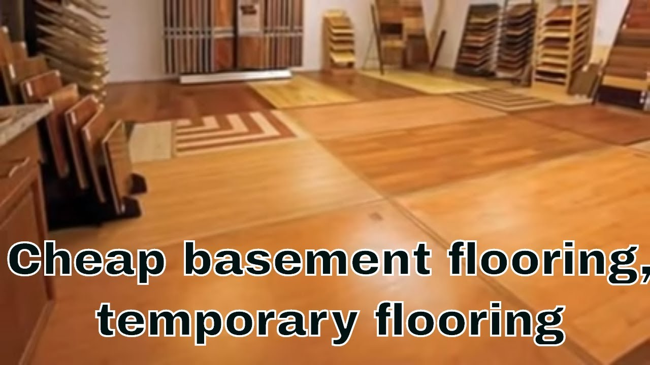Cheap basement flooring cheap temporary flooring for Affordable basement flooring