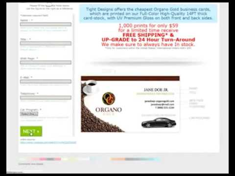 Organo gold business cards youtube organo gold business cards colourmoves