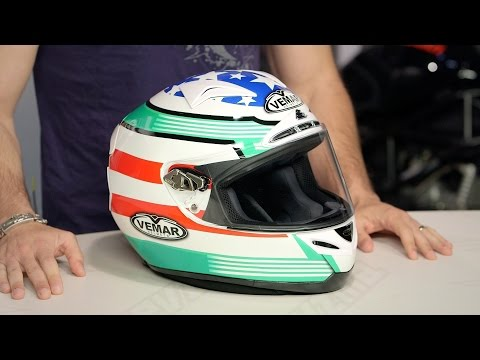 Vemar Eclipse Race USA Helmet Review at RevZilla.com
