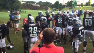 Cam Newton and Josh Norman fight during Panthers training camp thumbnail