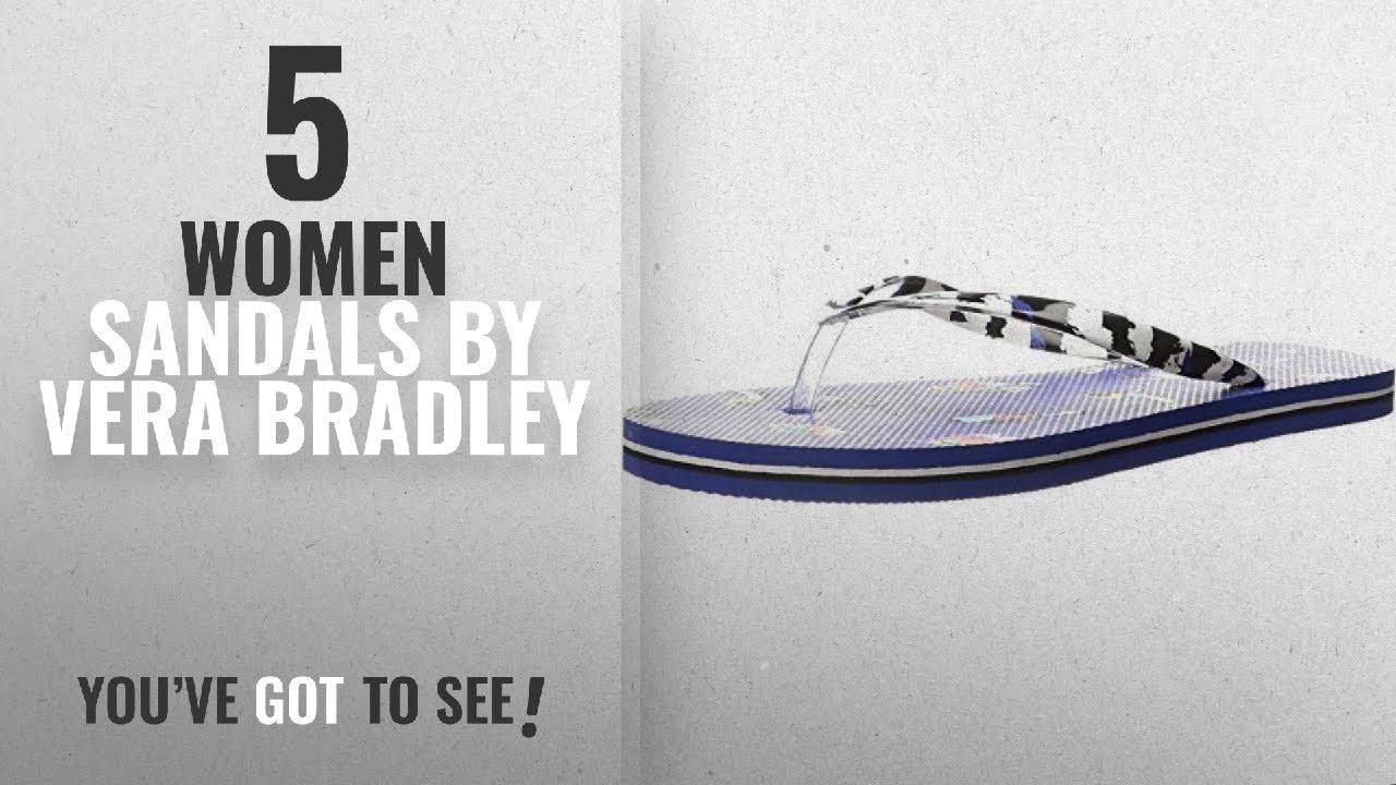 d268e39a1848 Top 5 Vera Bradley Women Sandals  2018   Vera Bradley Women s Flip Flops  Mini tody Birds Blue Sandal