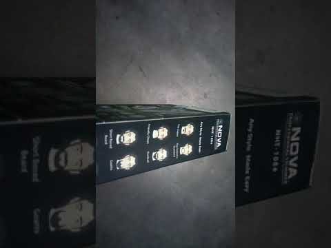 Nova NHT 1086 trimmer unboxing