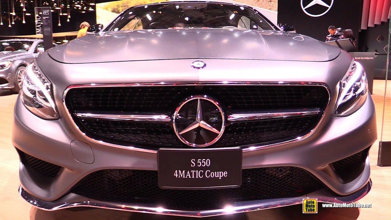 2017 Mercedes S550 Coupe Night Edition Exterior And Interior Walkaround Detroit Auto Show You