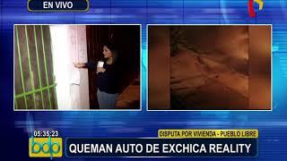 Pueblo Libre: queman auto de exchica reality Berenice Rojas