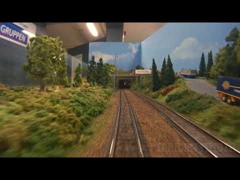 Trains and Scale Modeling – Cab Ride on the largest model railroad in Sweden
