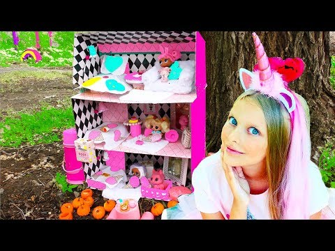 THE BIGGEST  DOLLHOUSE FOR LOL DOLLS  #HAIRGOALS  ! New LOL Dolls with hair ! Video for children