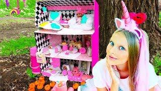 THE BIGGEST DIY DOLLHOUSE FOR LOL DOLLS  #HAIRGOALS  ! New LOL Dolls with hair !