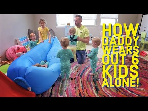 How Daddy wears out 6 kids ALONE