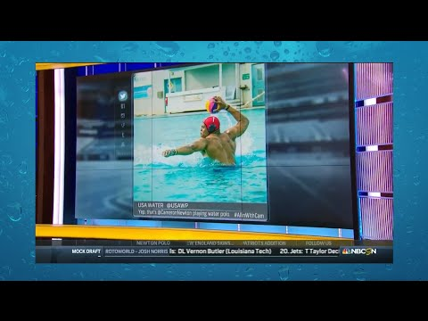 Cam Newton Plays Water Polo