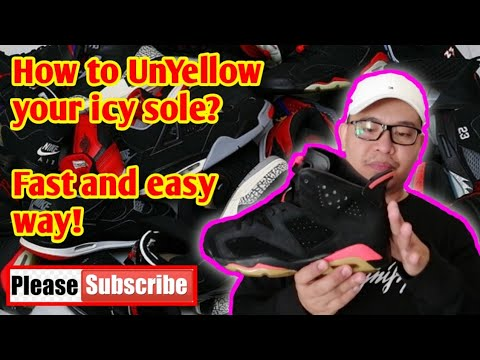 """How To UnYellow Icy Sole """" Jordan 6 Infrared """" In Fast And Easy Way."""