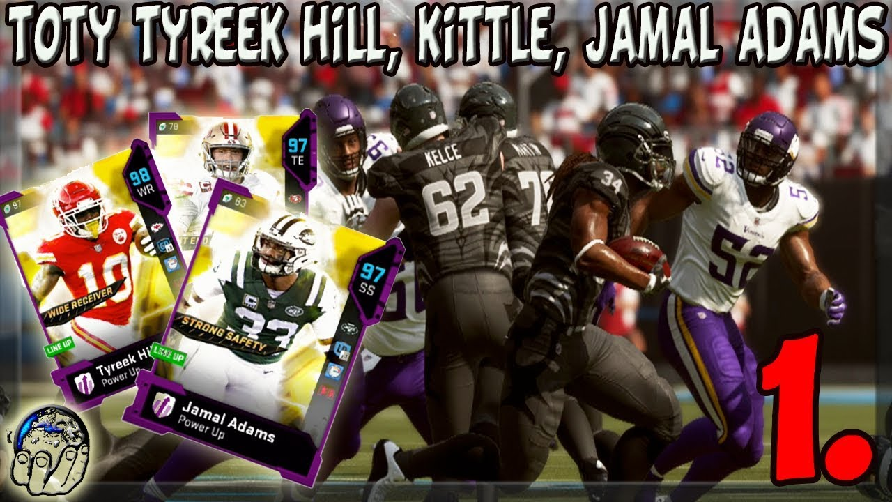 GOD SQUAD TOTY TYREEK HILL GEORGE KITTLE JAMAL ADAMS 1ST GAME IN MADDEN 19 ULTIMATE TEAM 1