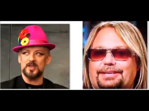 Motley Crue's Vince Neil collabs. w/ Boy George - Disturbed release Immortalized live video!
