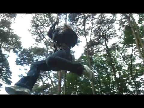 Chelsea Hixon on the rope slide