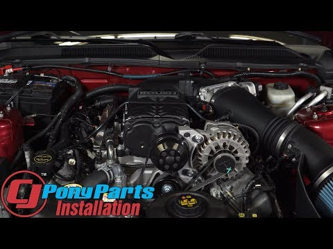 Mustang GT Roush Supercharger Kit Phase 1 Single Belt R2300 Black Manual 2005-2009 Installation