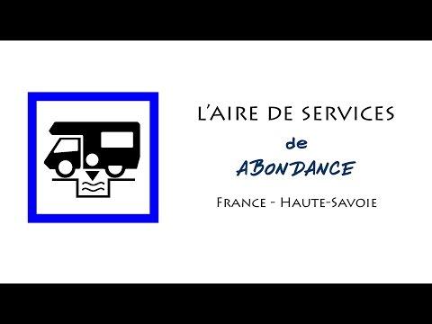 Abondance : aire de services pour camping-cars en Haute-Savoie (France)