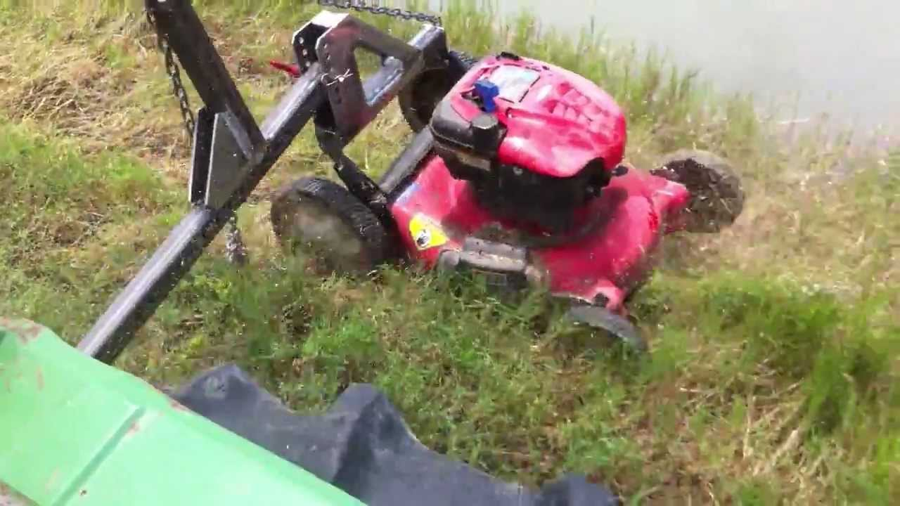 Redneck Boom Mower Slope Test Youtube