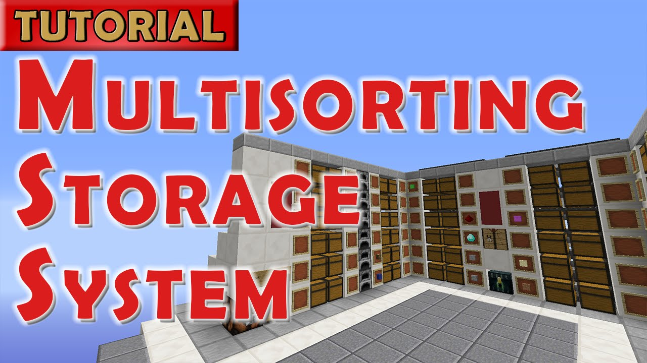 Minecraft Tutorial Automated Storage System With Multi
