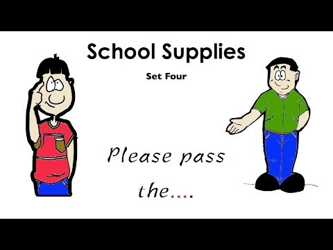 Please pass the... | School Vocabulary and Conversation Practice | ESL.