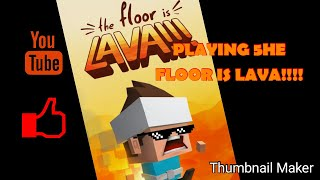 (PLAYING THE FLOOR IS LAVA!!!!)😄😄😄🤣