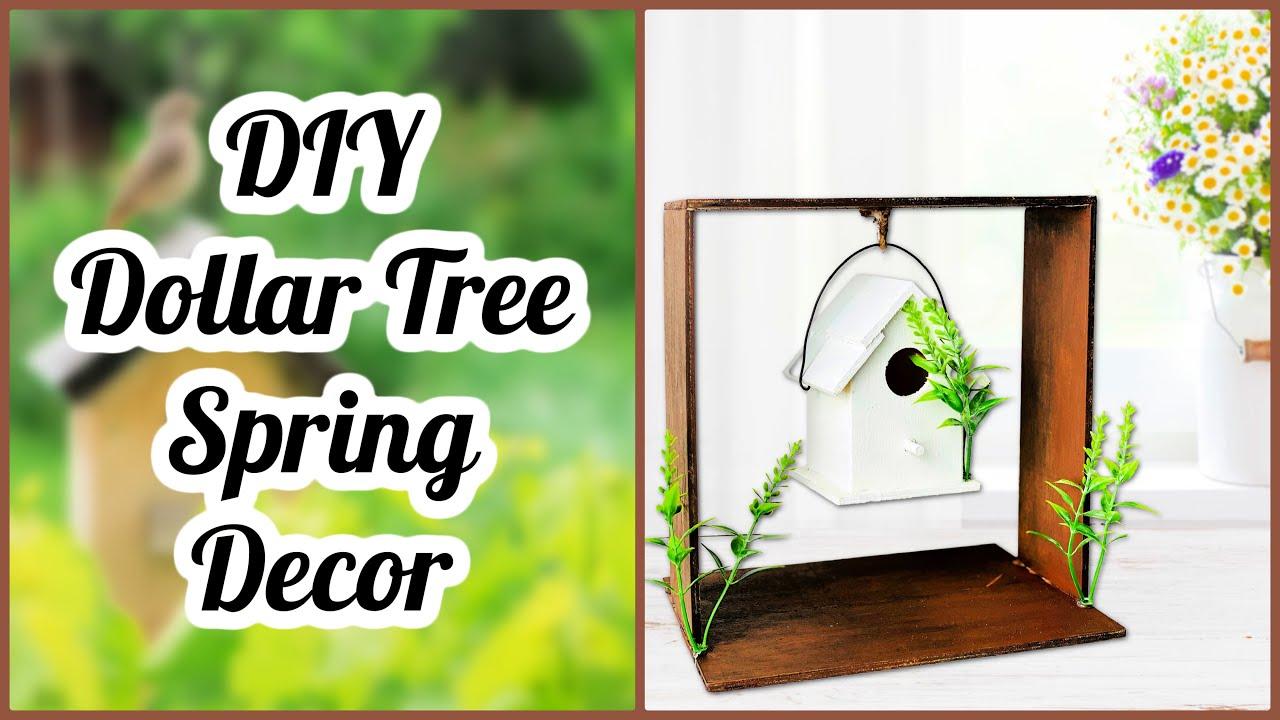 Easy DIY Dollar Tree Spring Or Everyday Farmhouse Decor   Wood Decor Crafts   Cheap Craft Ideas 2021
