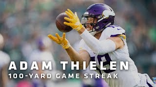 Adam Thielen Highlights From His 100-Yard Game Streak | Minnesota Vikings