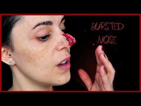 Bursted nose special effect makeup tutorial | Silvia Quiros