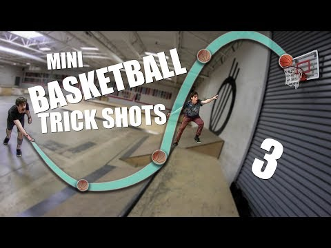 EPIC MINI BASKETBALL TRICKSHOTS 3!