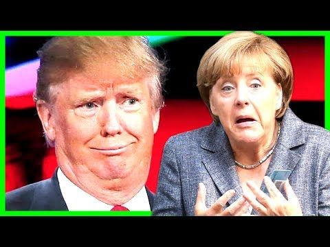 President Donald Trump ROLLS HIS EYES over ANGELA MERKEL