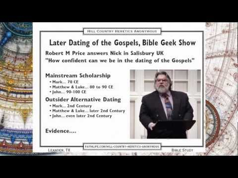 dating of the canonical gospels