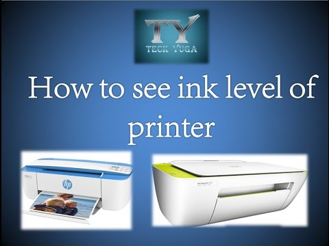 How To See Ink Level Of Hp Printers Youtube