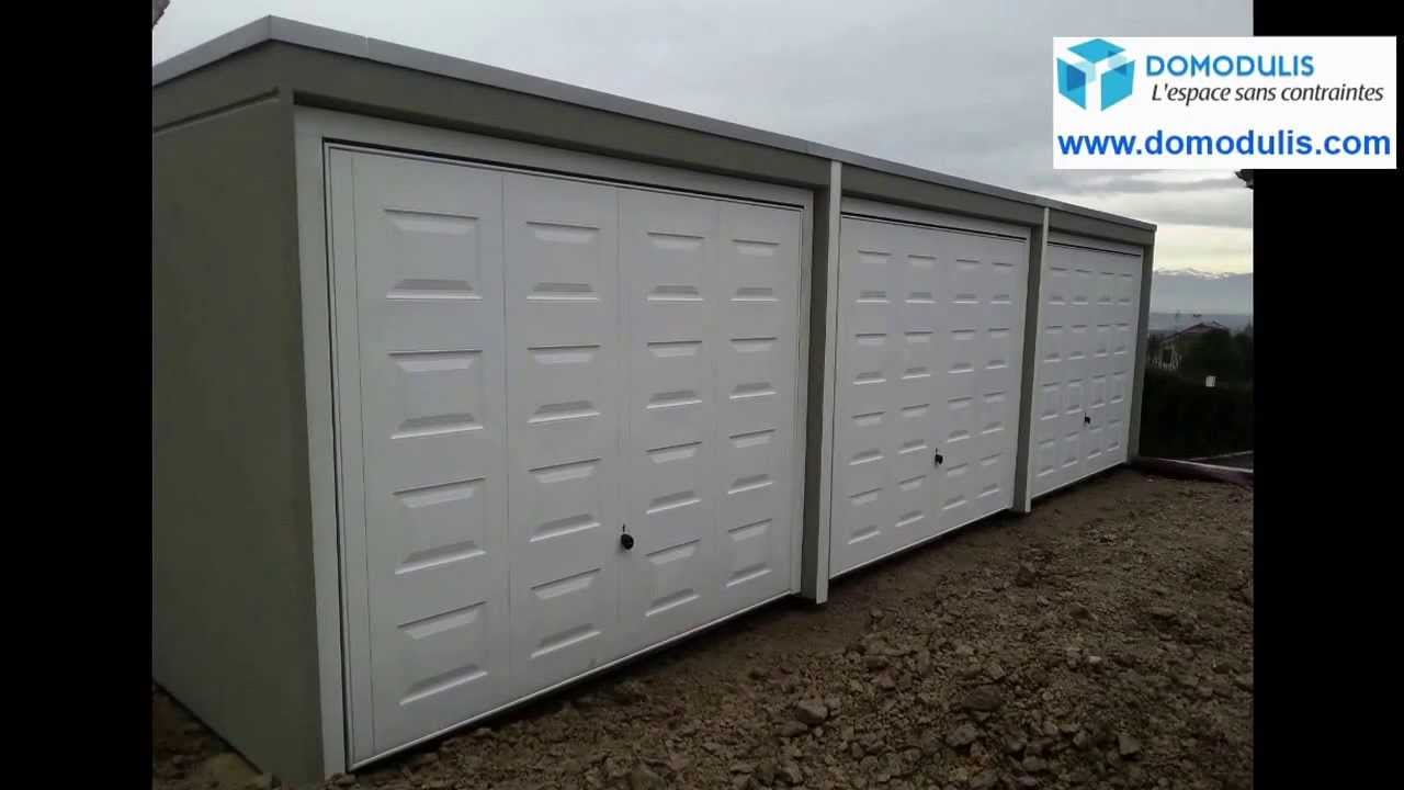 garage b ton pr fabriqu qualit et pose en 3 h de garages beton sur le sud de france youtube. Black Bedroom Furniture Sets. Home Design Ideas