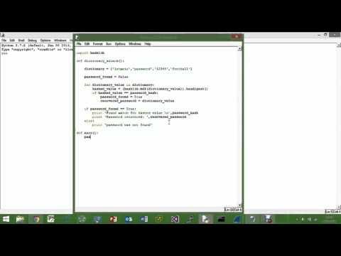 Python - Password Hash Cracking