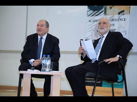 AUA Hosts RA Presidential Candidate Armen Sarkissian