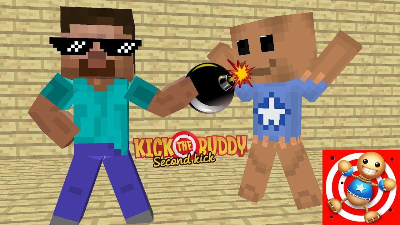 Monster School Kick The Buddy Game Challenge Minecraft Animation Youtube