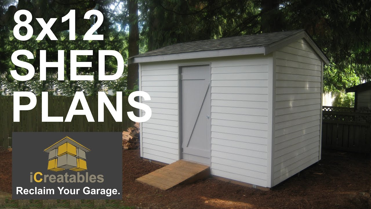 8x12 Shed Plans Video