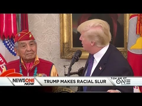 Trump Uses A Racial Slur During Event Honoring Native American World War II Vets