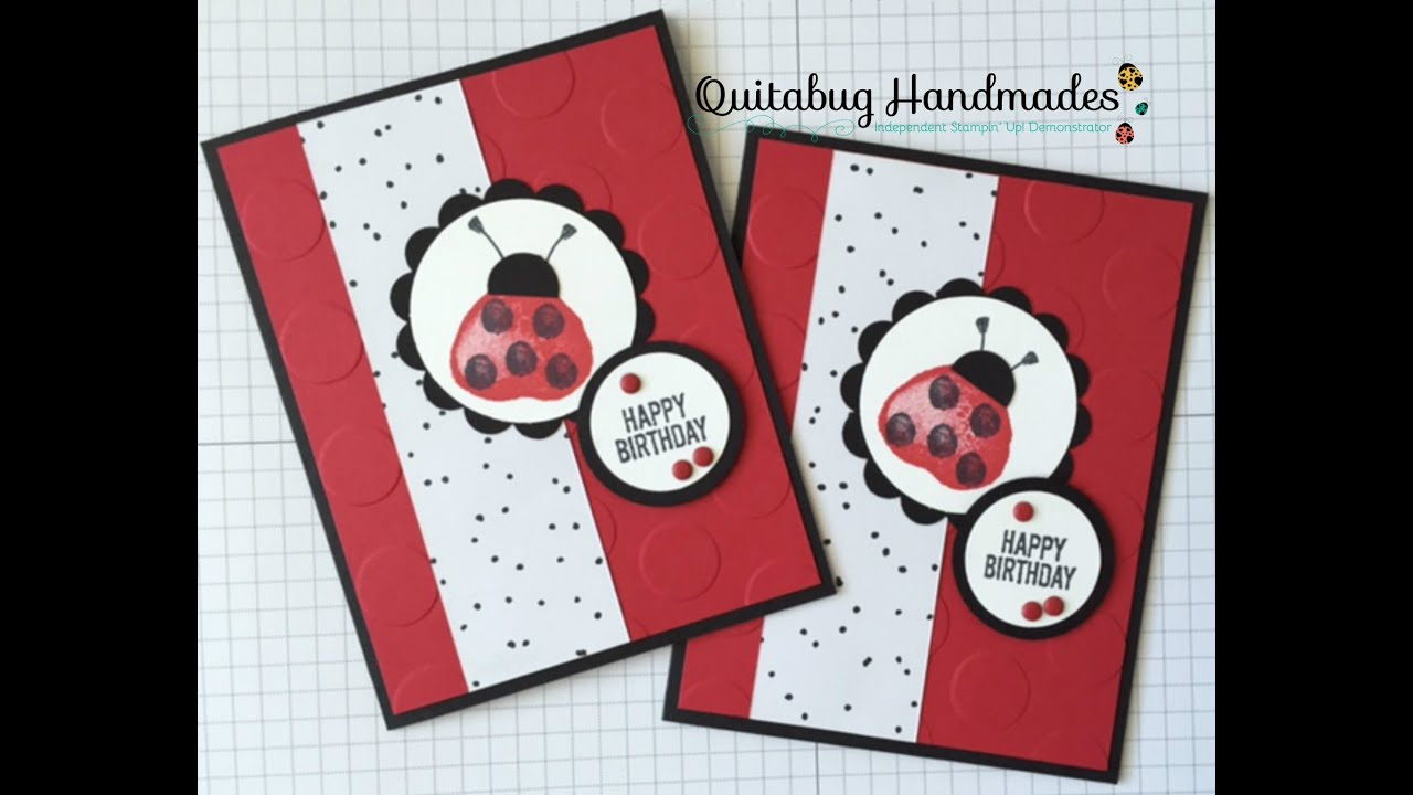 Stampin Up Balloon Builders Ladybug Birthday Card YouTube – Ladybug Birthday Cards