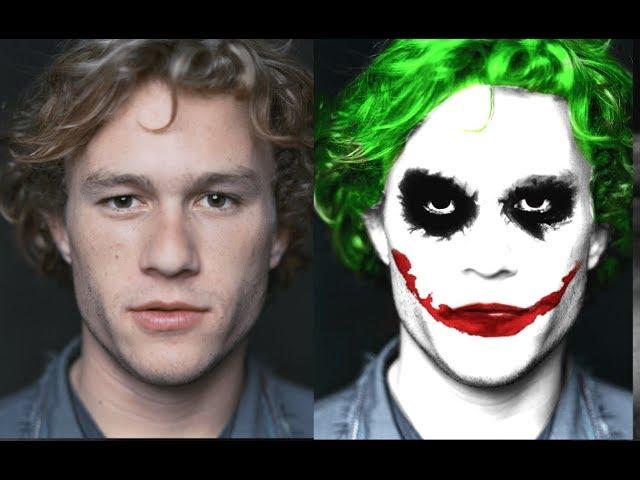 Joker face manipulation(picsart)