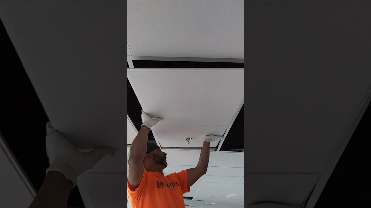 How to install ceiling tiles on sprinklers wiht flex drop youtube how to install ceiling tiles on sprinklers wiht flex drop dailygadgetfo Image collections