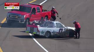 Watch: Truck Catches Fire In Opening Phoenix Practice