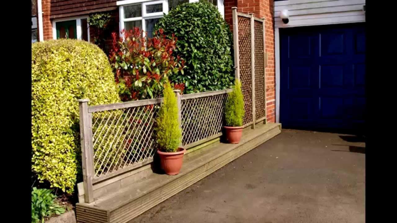 Garden Fence Screen Easy PopUp Design No Post Holes