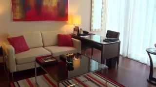 Dubai Luxushoterl The Oberoi  Matthias Mangiapane - Standatzimmer Doppelzimmer Bett Bad