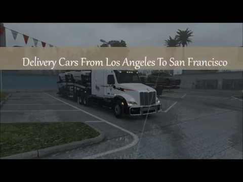 SCS ATS Original Company Truckskins Made By Hounddog Delivery Cars From Los Angeles To San Franc