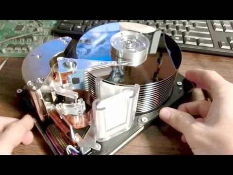 Giant Hard Drive Teardown and Gyroscope mod